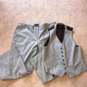 Talbots dress pants and vest